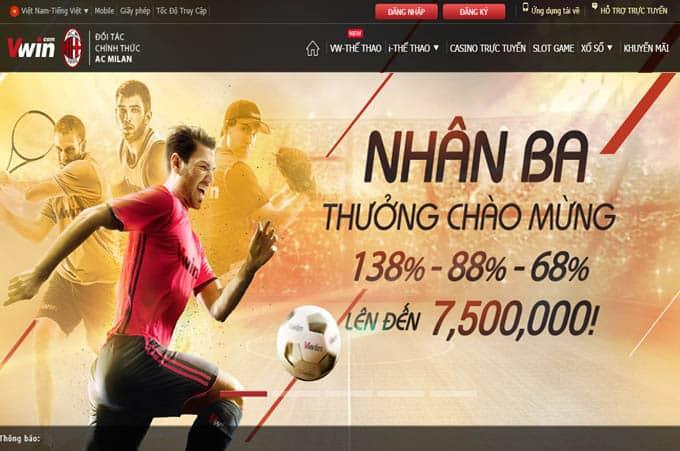 Nhân Ba thưởng Chào Mừng lên tới 7,500,000 VNĐ