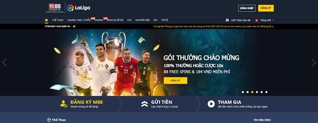 M88 trang web cá cược bóng đá uy tín