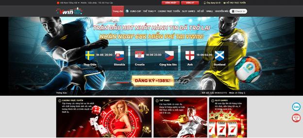 trang thể thao và sòng bài trực tuyến uy tín vwin