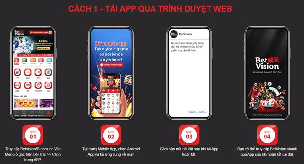 cách tải app tại BetVision