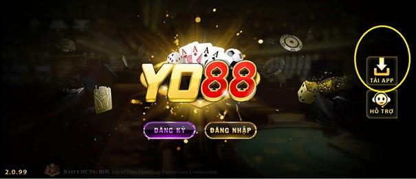 hướng dẫn tải app Yo88