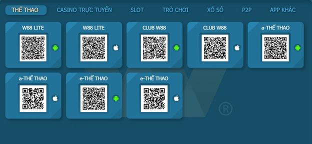 app di động W88