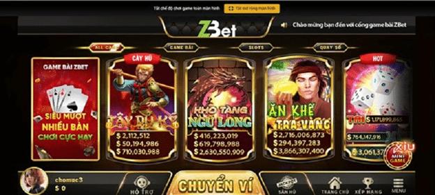 game bài Zbet